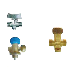 Sundry valves for LPG  male - male with legs