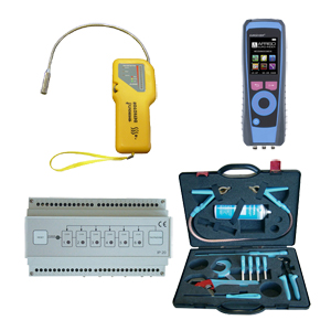 Gas detecting and analysing kits and safety equipment