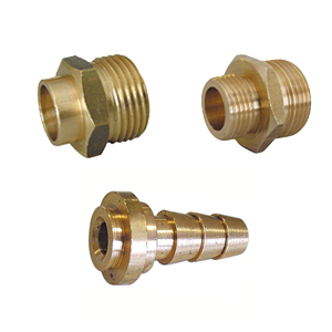 Brass solder and compression connections and weld