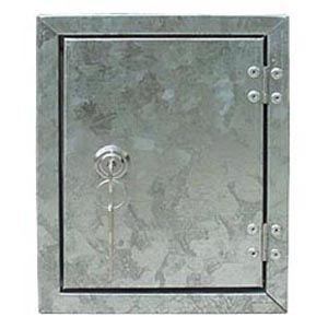 GALVANISED CABINET WITH SERVICE KEY