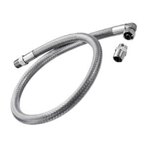 Stainless steel flexible hoses with safety device