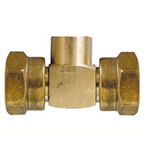 "TEE WITH 20/150 NUTxF1/4""x20/150 NUT"