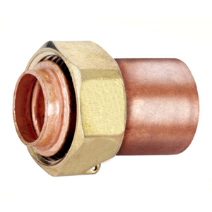 Straight copper fittings with sealable nut