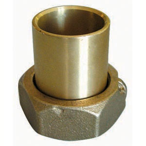 Brass fittings with sealable nut and joint
