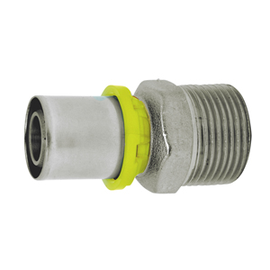 """STRAIGHT BRASS FITTING M. 1/2"""" X MULTILAYER GAS 16 mm"""