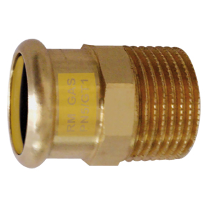 ENTRONQUE MACHO Cu PRESSFITTING GAS 12-1/2""