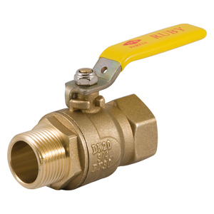 Upright or line valves lever male - female