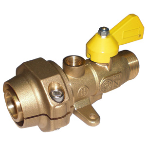 Monobloc male polyethylene connection valves