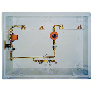LPG 400 mbar 2-C Cu CABINET WITH INSPECTION HOLE