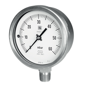 "Ø100 1/2"" 60MB VENTOMETER WITH CERTIFICATE"