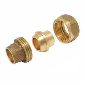 340Cu straight coupling female - female